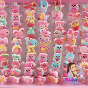 Childrens-Pink-Animal-Rings