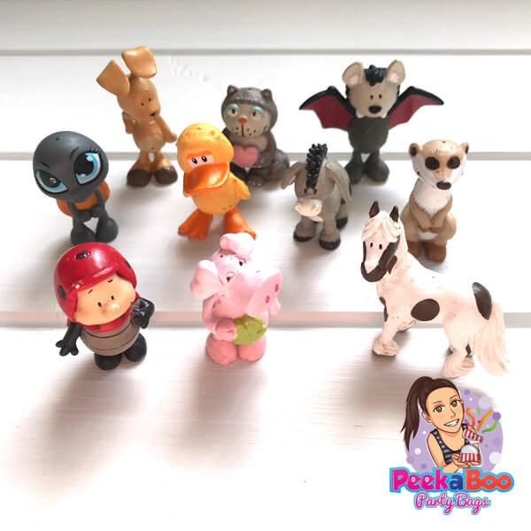 cartoon animal figurines party bags